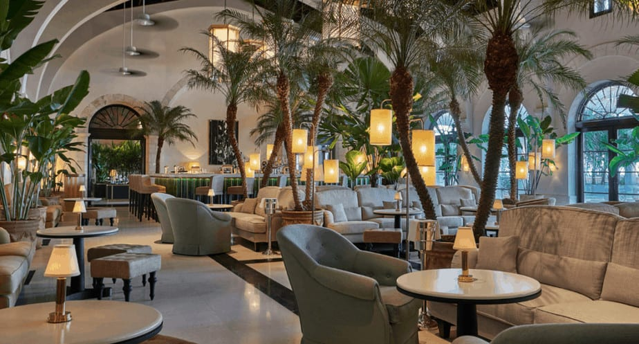 Lobby at Four Seasons Hotel at the luxury Surf Club