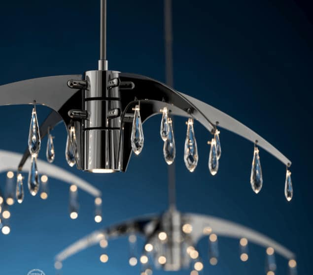 Home furnishing lighting with crystals