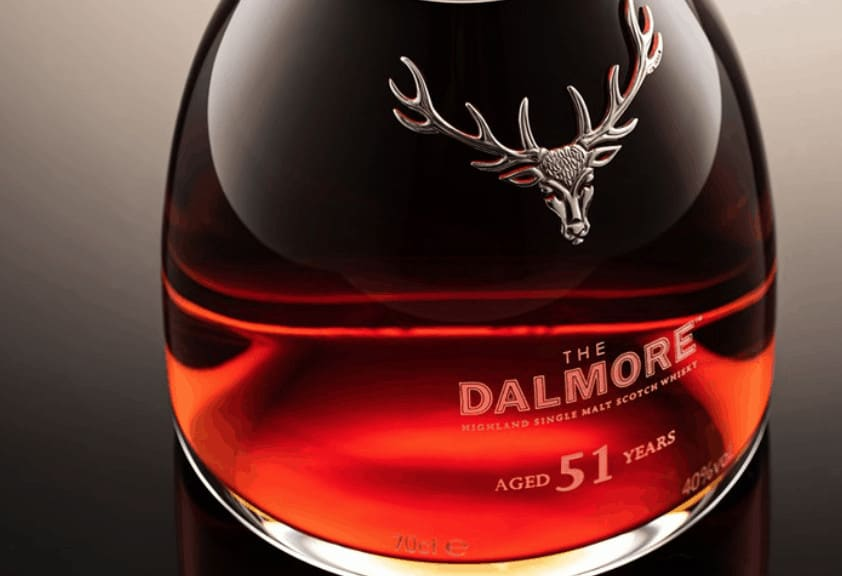 Beautiful glass filled with Dalmore whisky