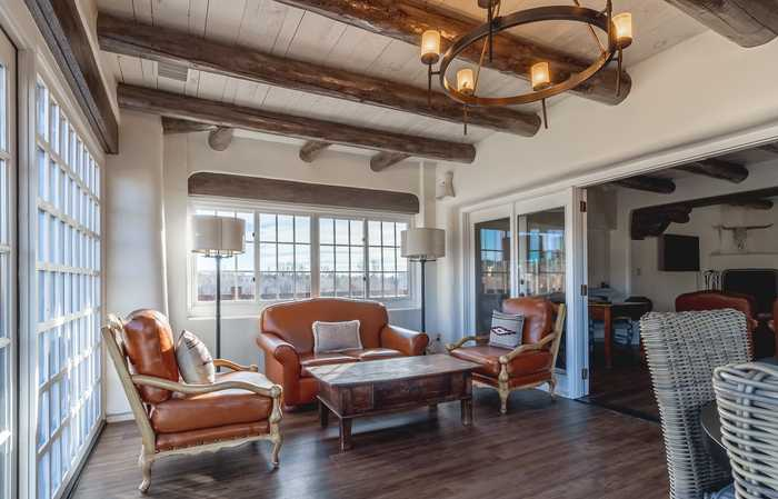 Penthouse suite at luxury hotel in Santa Fe
