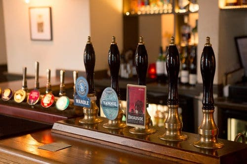 Compton Arms bar with beer pulls
