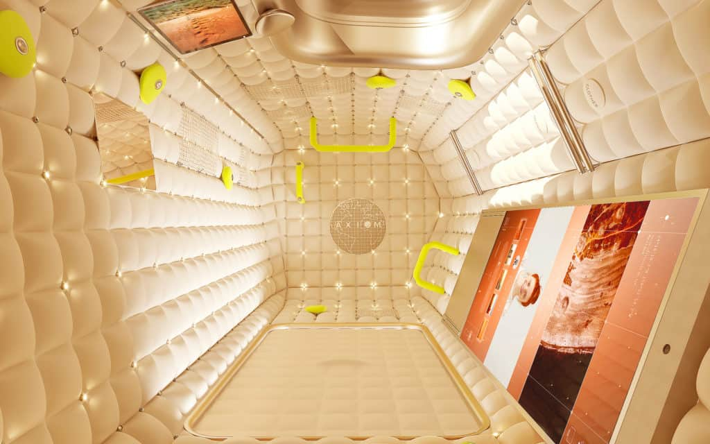 hotel guest room in space