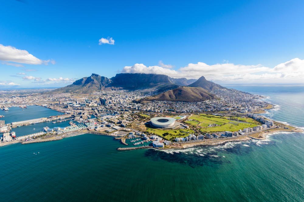 Aerial-view-of-Cape-Town-South-Africa-on-a-sunny-afternoon