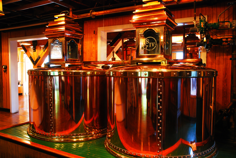 Bourbon is distilled in Copper Vats at Makers Mark distillery