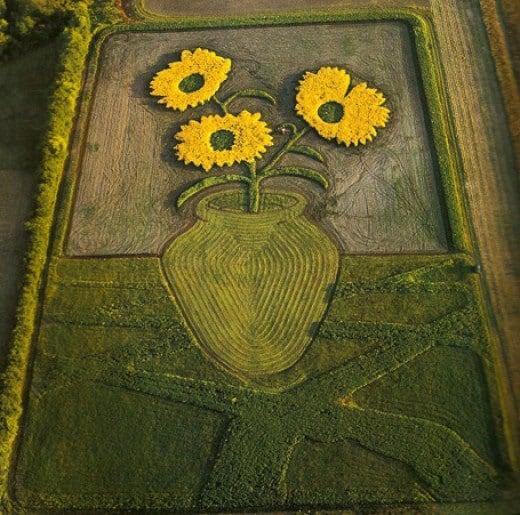Crop art of Van Gogh painting