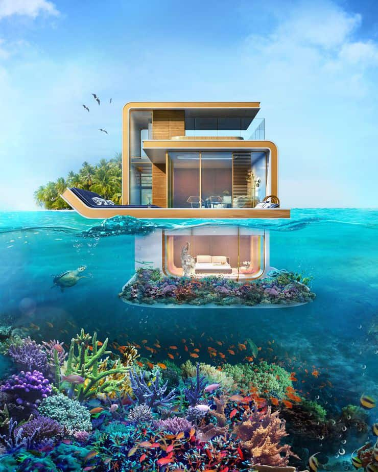Floating Seahorse luxury houseboat in Dubai