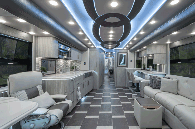 Foretravel RV motorhome interior