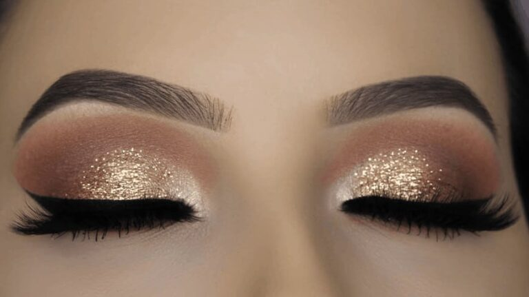 Glitter makeup on eyes