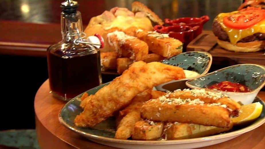 Fish and chips at celebrity chef Gordon Ramsey