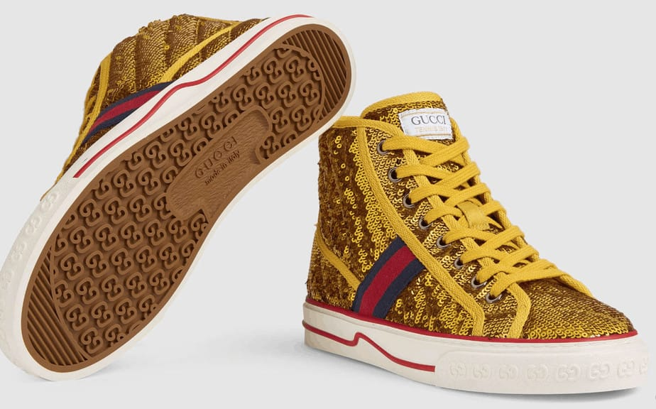 Gucci High Top expensive sneakers