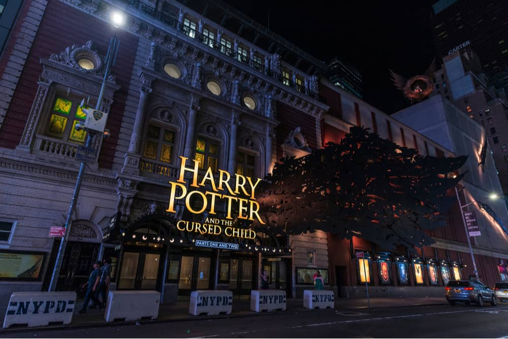 Harry Potter and the Cursed Child playing on Broadway.