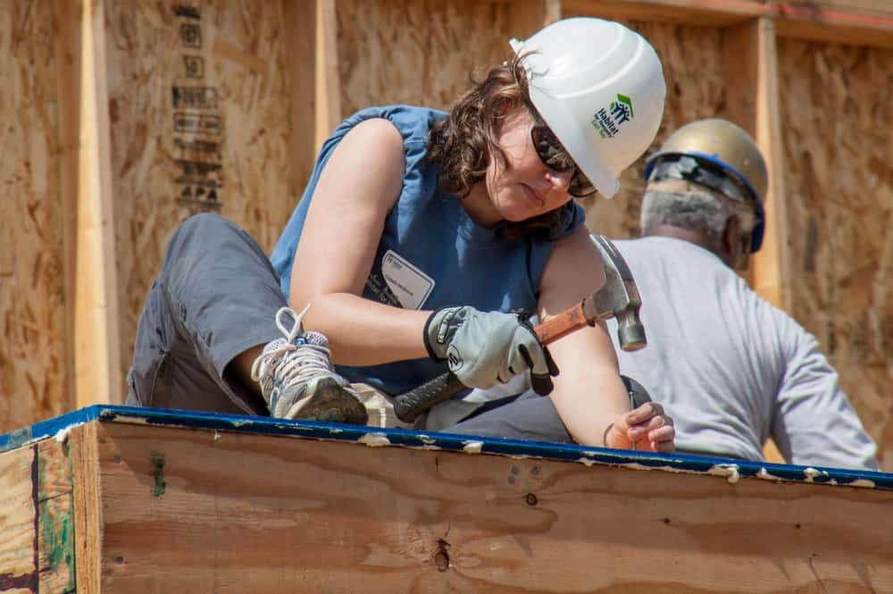 Volunteers with Habitat For Humanity charity