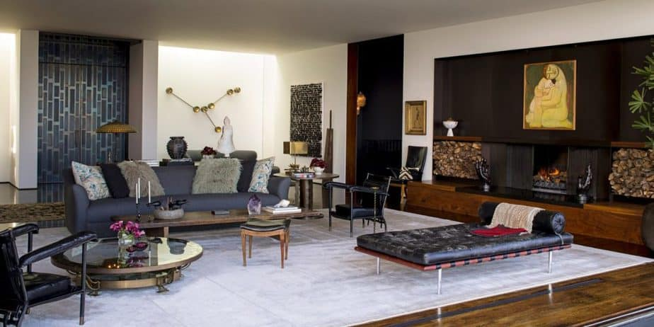 Living room in the home of the Friends cast member Jennifer Aniston