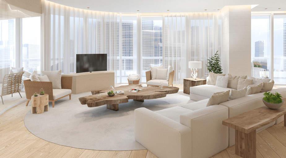 Kobi Karp interior design living room with soft tones