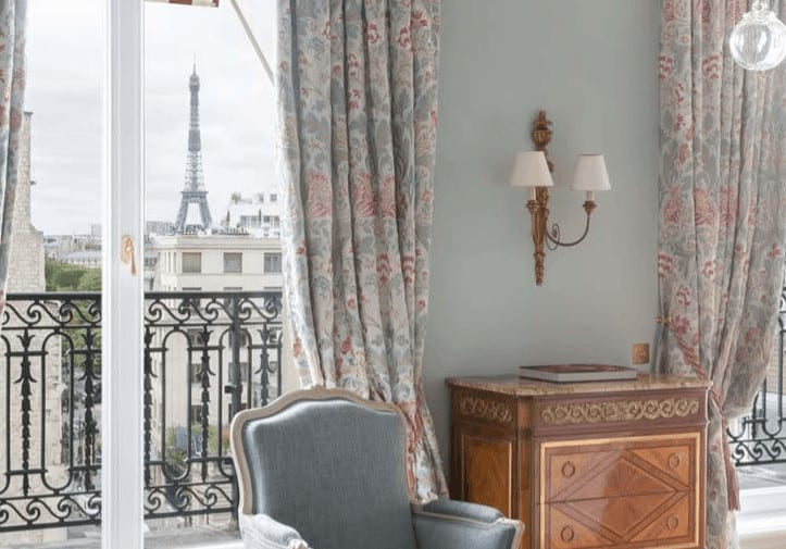 Le Bristol suite with Eiffel Tower view