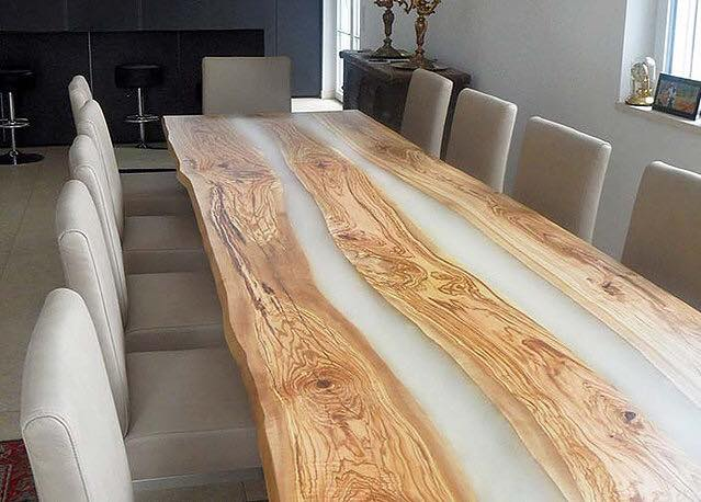 Live edge river table for the home