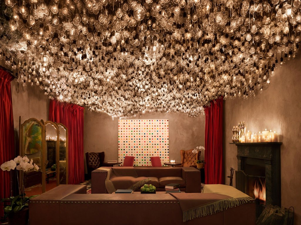 Lobby at the Gramercy Park luxury hotel in New York