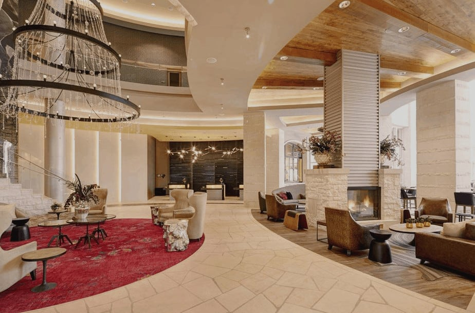 Lobby at the luxurious Archer Hotel in Austin