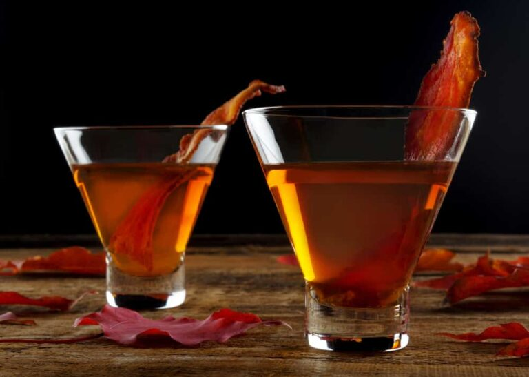 Maple bacon cocktail