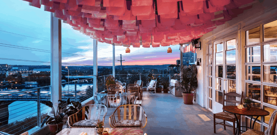 P6 lounge view at luxury hotel in Austin