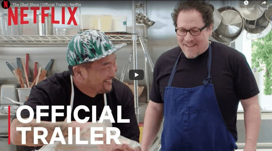 Roy Choi with Jon Favreau on their new celebrity cooking show