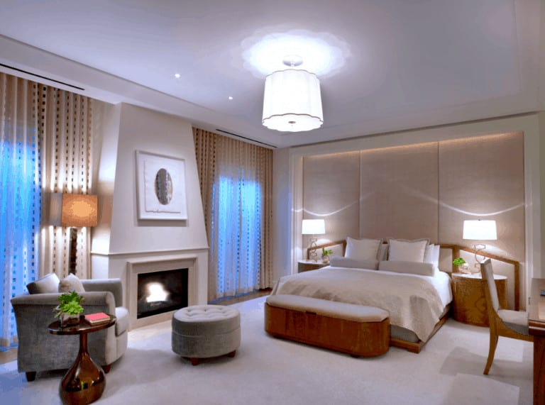 Presidential bungalow bedroom at the Beverly Hills Hotel
