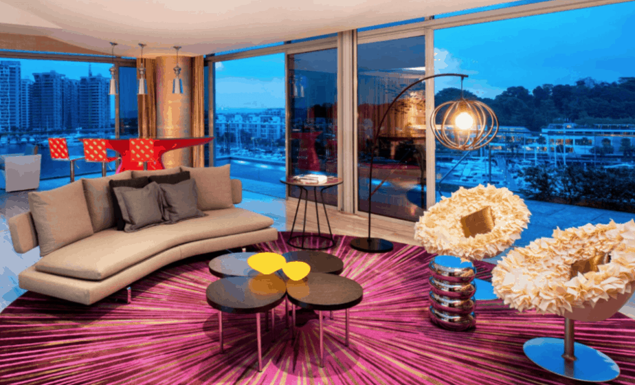 Funky fantasy suite at the W Hotel