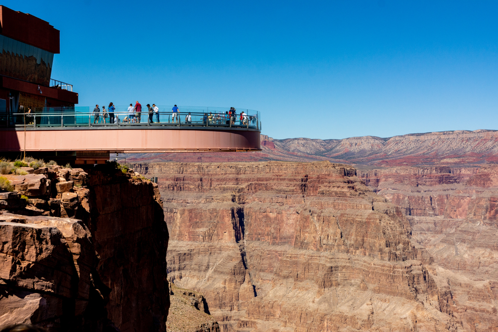 Skywalk overlooking the grand canyon