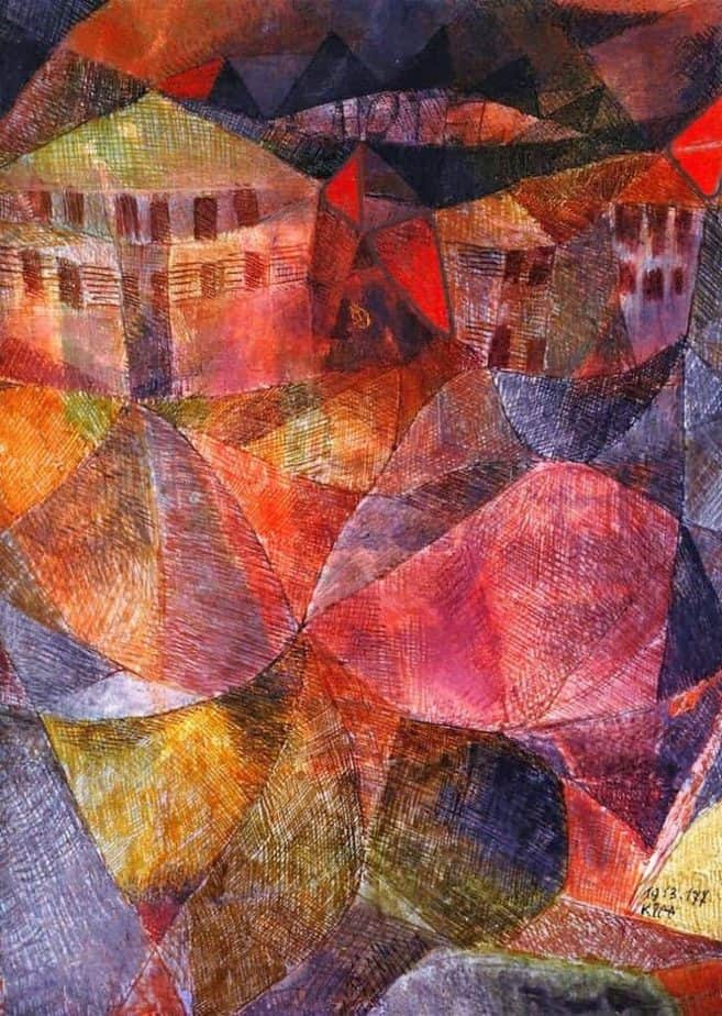 The Hotel, painting inside single-artist museum for Paul Klee
