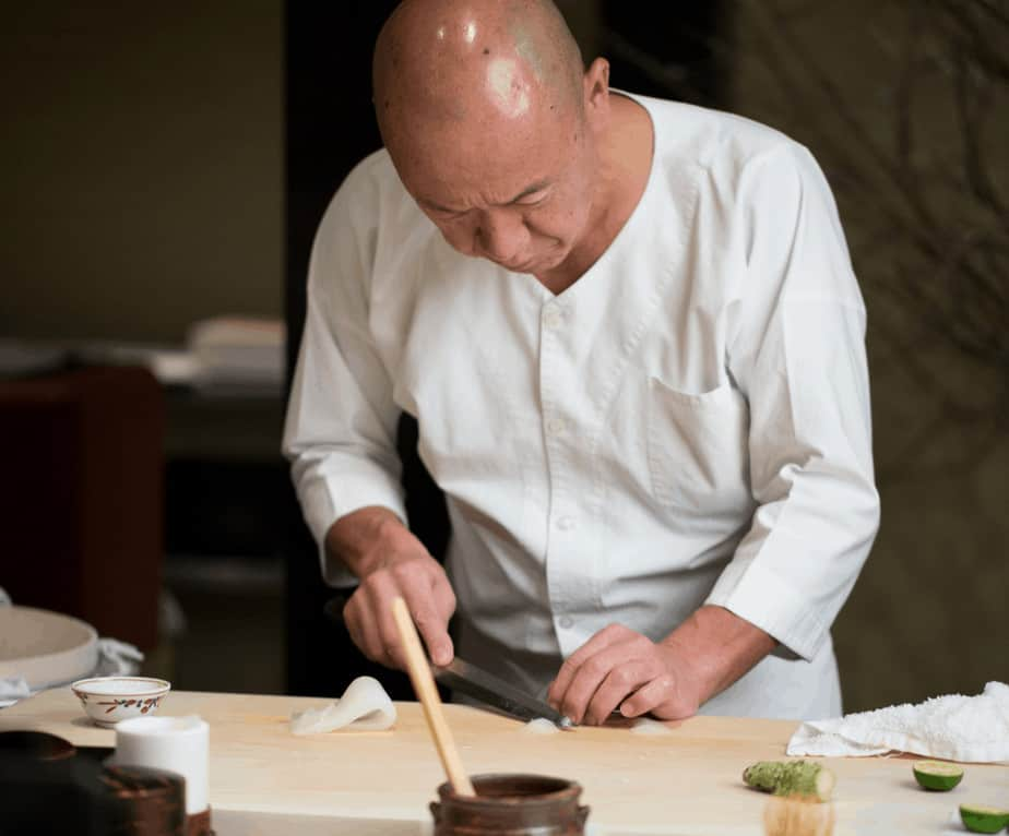 Top sushi chef Masa in New York