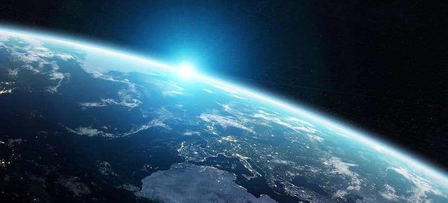 View-of-blue-planet-Earth-in-space-