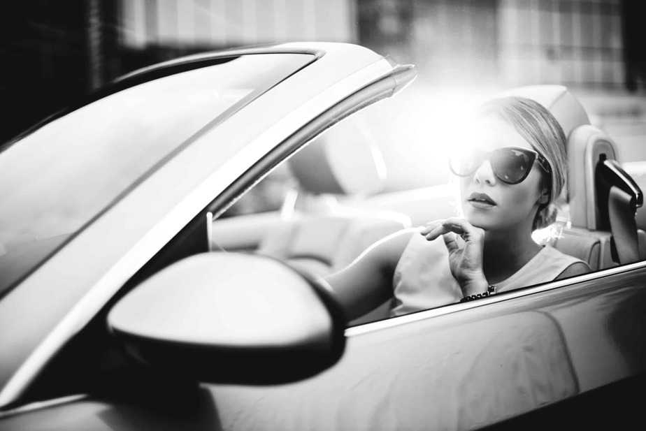 glamourous Woman-in-car