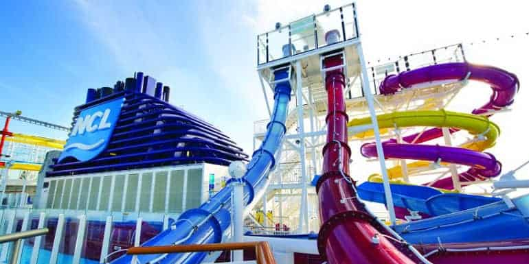 Water ride on a cruise ship.