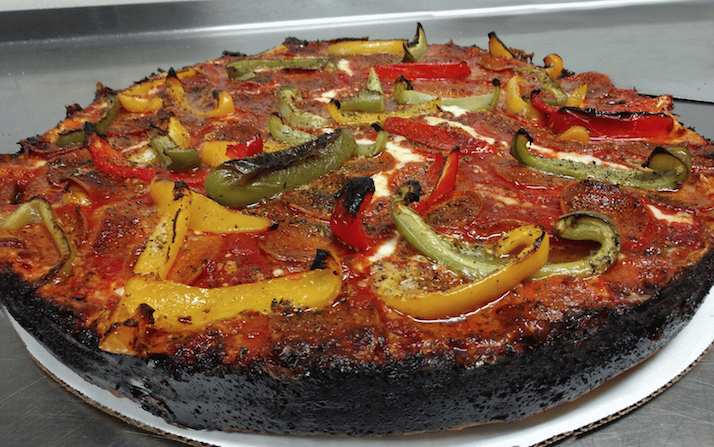 caramelized pizza done right at Burt's Place