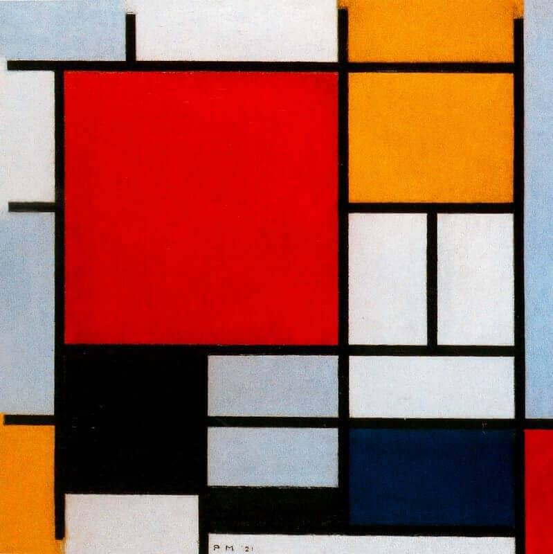 composition-with-large-red-plane-yellow-black-gray-and-blue