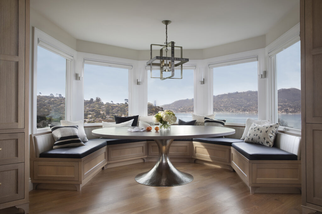 dining room by windows