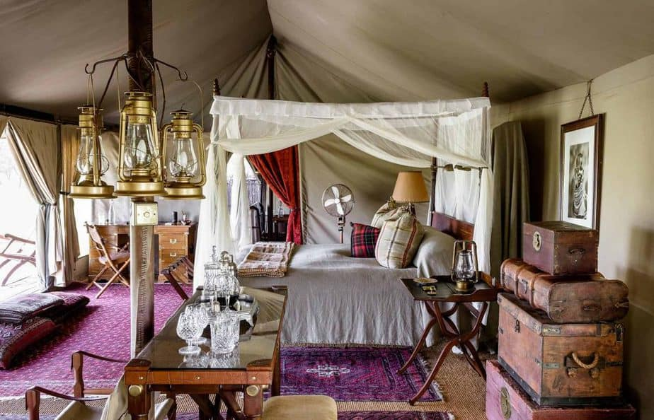 The Sabora Tented Camp has 9, en-suite tents for luxury camping