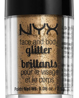 NYX Face makeup and Body Glitter