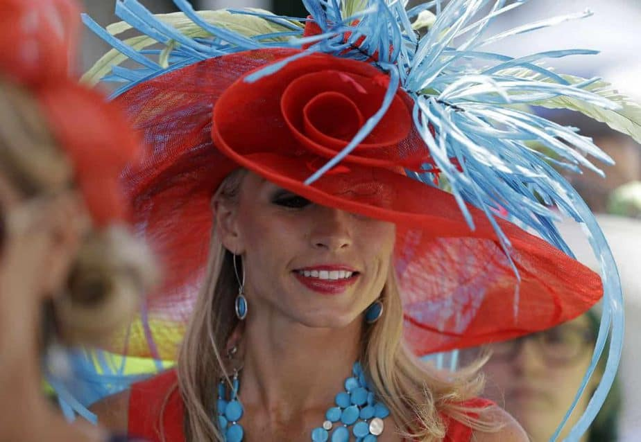 Fashionable hats at the Kentucky Derby