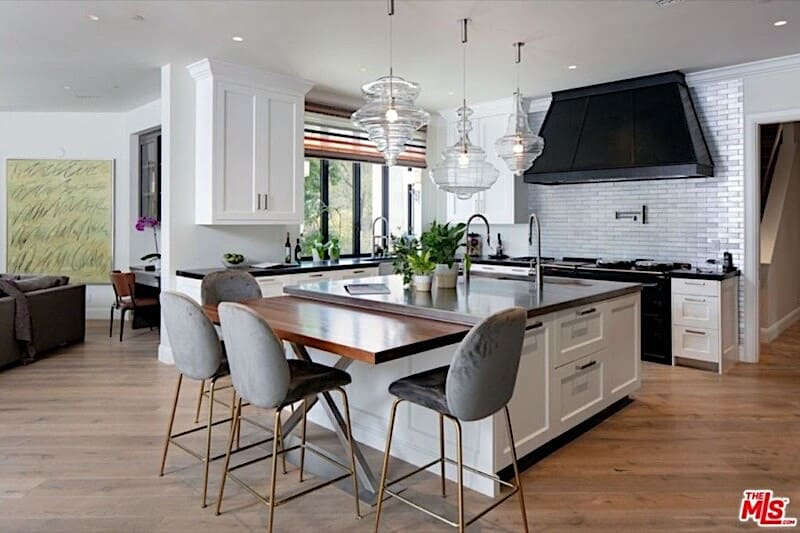 Gourmet kitchen at hot property in Beverly Hills