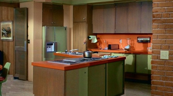 Kitchen of the Brady Bunch house.