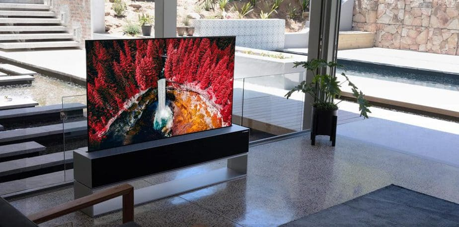 Luxury home accessories include this lg-signature-product-oled-tv-rx-rollable-design