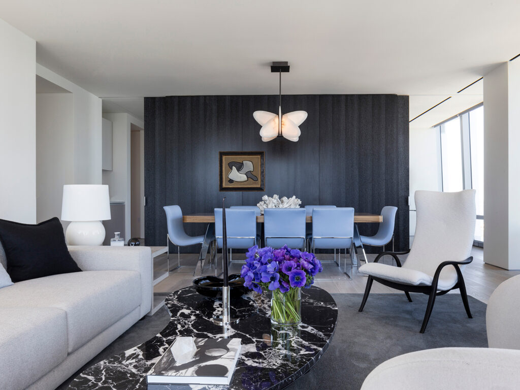living room and dining area interior design