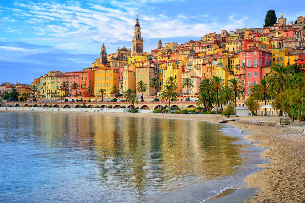 old town Menton on french Riviera