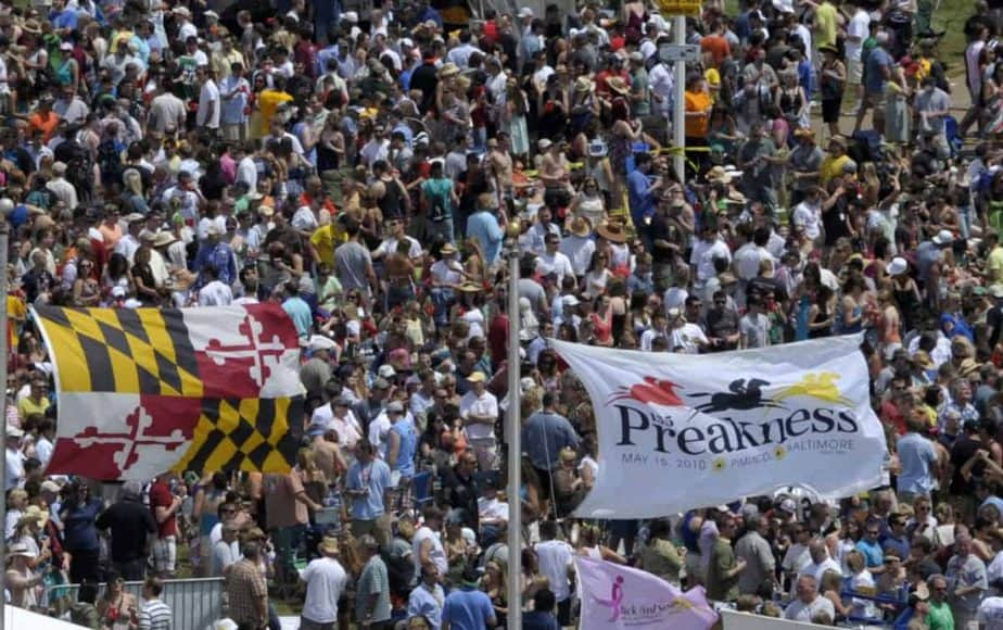 Horse racing at Preakness Stakes-Baltimore