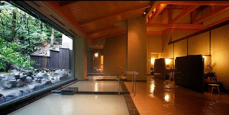 private room with healing hot springs bath