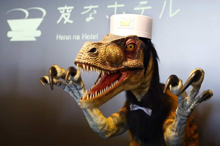 A robotic velociraptor to expedite your checkout experience