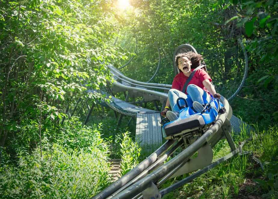 Smoky mountains thrill ride through the forest