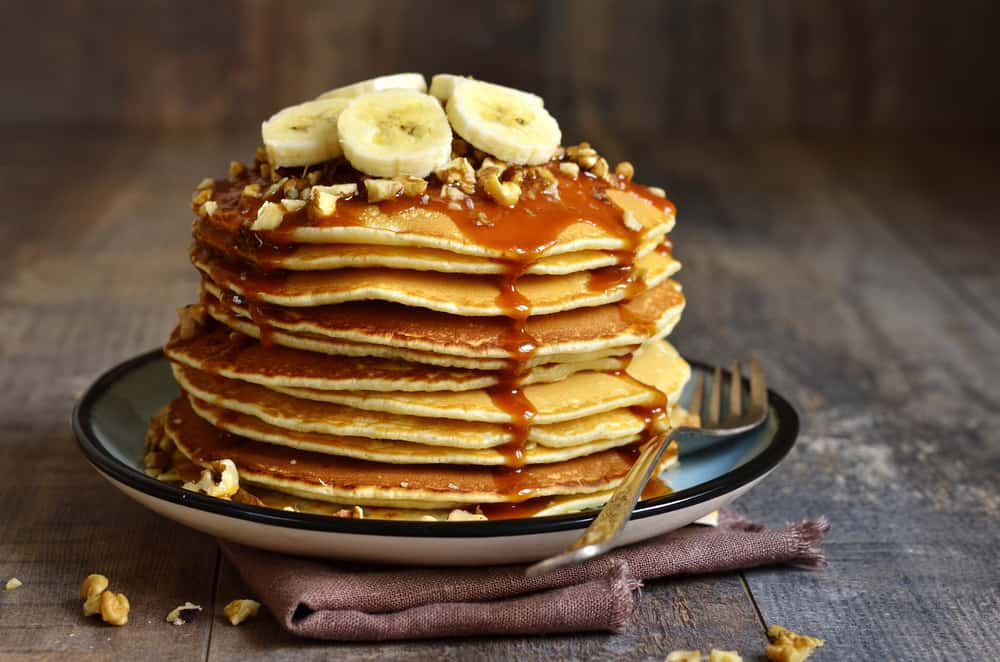 Pancakes makes a great safer at home meal