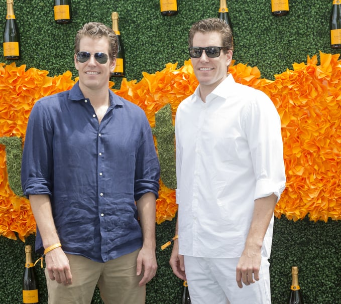 Tyler and Cameron Winklevoss, celebrities who own bitcoin
